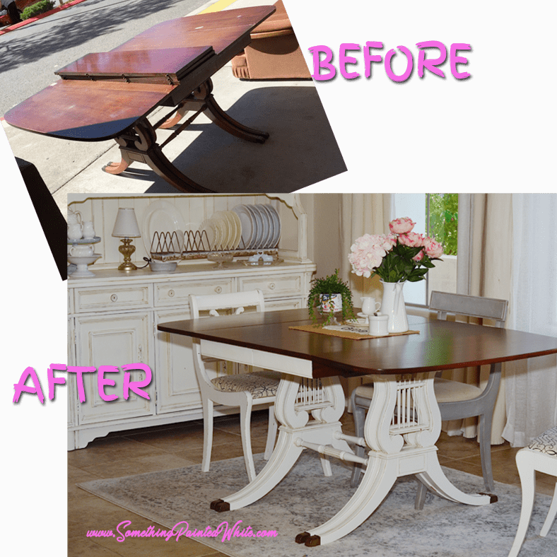 This dining room table makeover was worth every step. From Drab to Fab!!!!