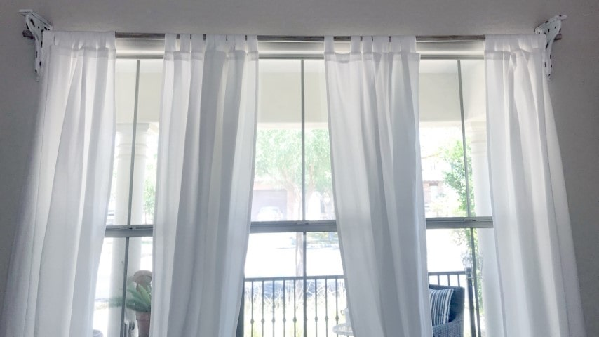 How to Make Your Own Long Curtain Rods for Cheap
