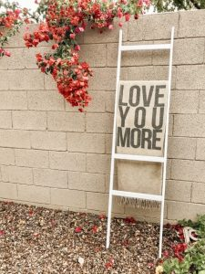 easy diy blanket ladder outside