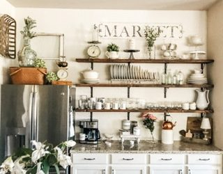 Simple Open Shelving on a Budget, That Will Make You Love Your Kitchen!