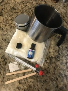 supplies to make a candle