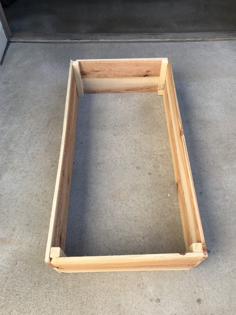 Completed 2' x 4' garden box