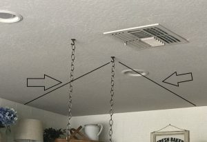 measure distance from the wall for your ladder pot rack