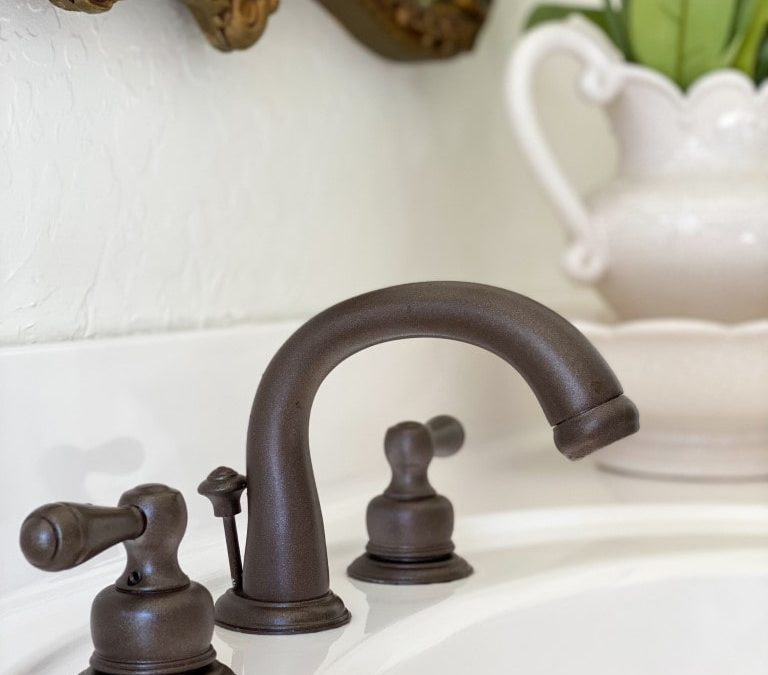 How To Spray-Paint Bathroom Faucets Without Removing Them