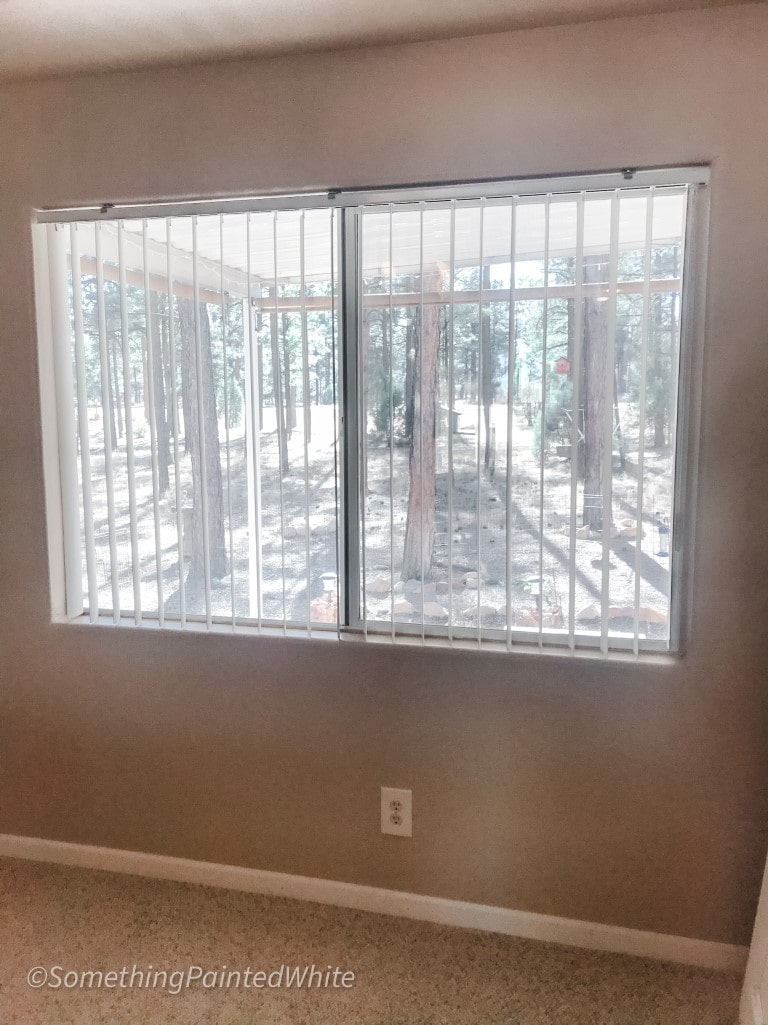 Window in Master Bedroom above the bed