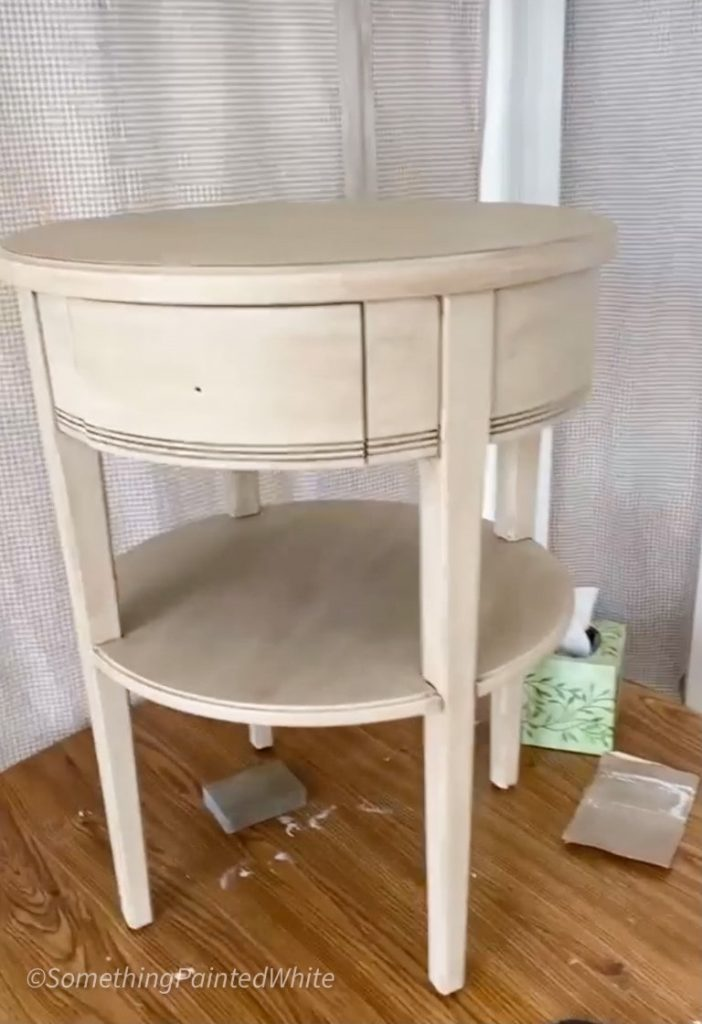 night stand after painting and glazing